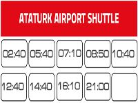 Shuttle bus from Sultanahmet to Ataturk Airport